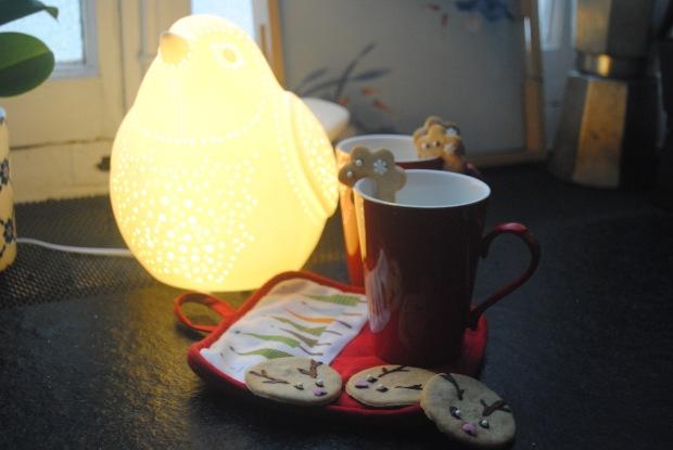 décoration biscuits de Noël Golden avocado